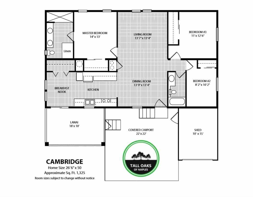 Naples, Florida 34113, 3 Bedrooms Bedrooms, ,2 BathroomsBathrooms,Manufactured Home,Floor Plan,1010