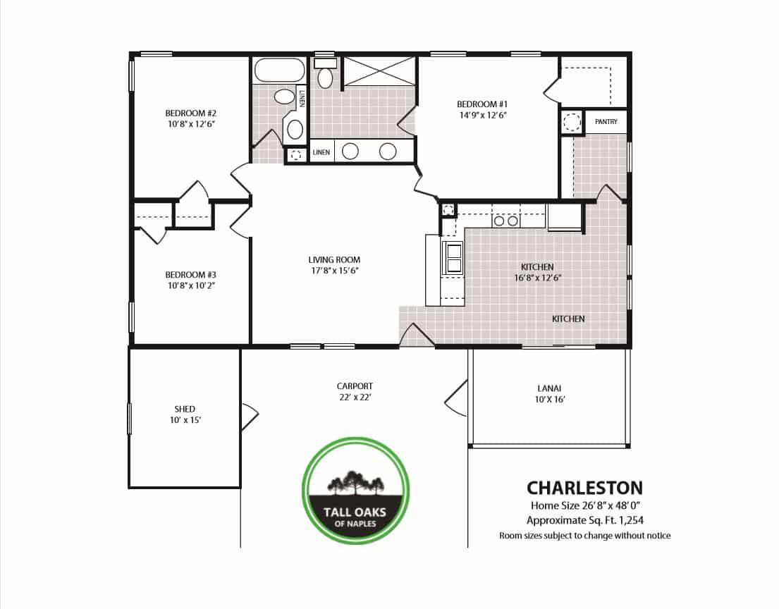 Naples, Florida 34113, 3 Bedrooms Bedrooms, ,2 BathroomsBathrooms,Manufactured Home,Floor Plan,1013